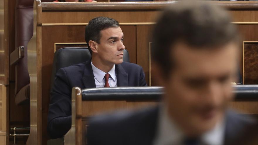 Sánchez se irrita tras la intervención de Casado, Foto: Marta Jara