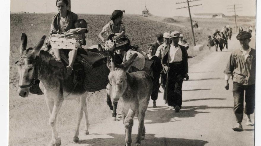 'Los campesinos que huyeron de sus pueblos' (frente Talavera)