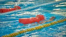 Prueba de natación sincronizada de los Juegos de Tenerife