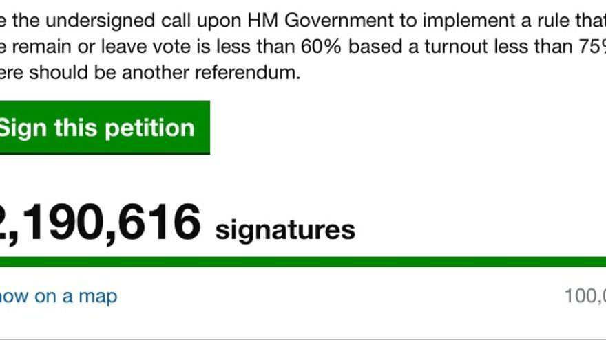 El número de firmas de la petición a las 20:53
