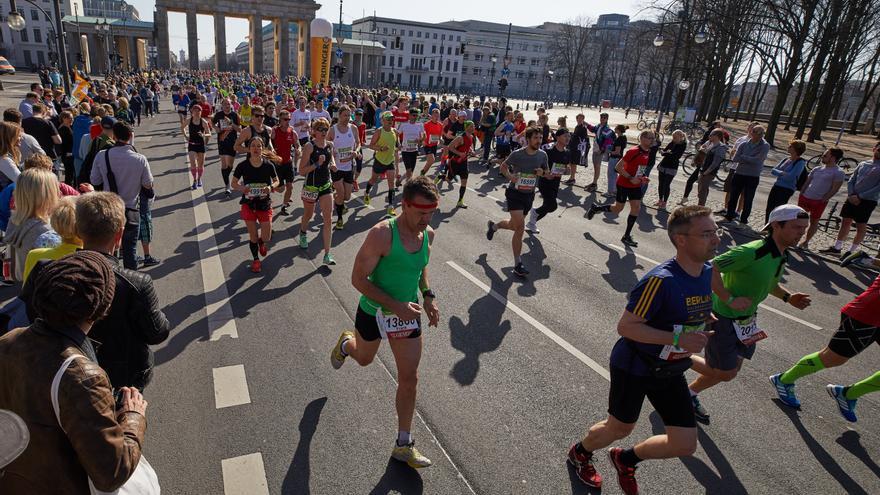 Medio maratón de Berlín, celebrado este domingo