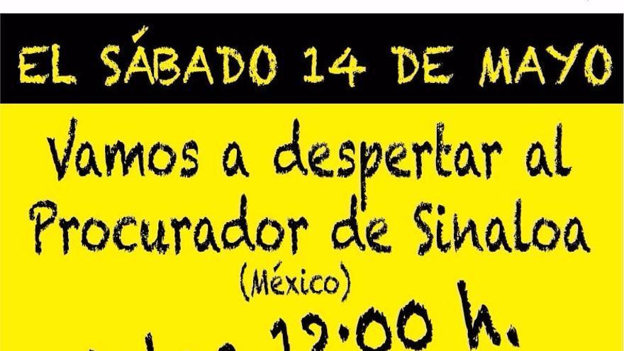 Cartel del acto del sábado en la Plaza de España.