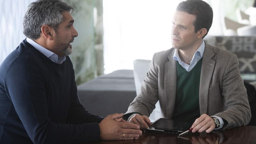 Juan José Cortés y Pablo Casado, en una imagen de archivo.