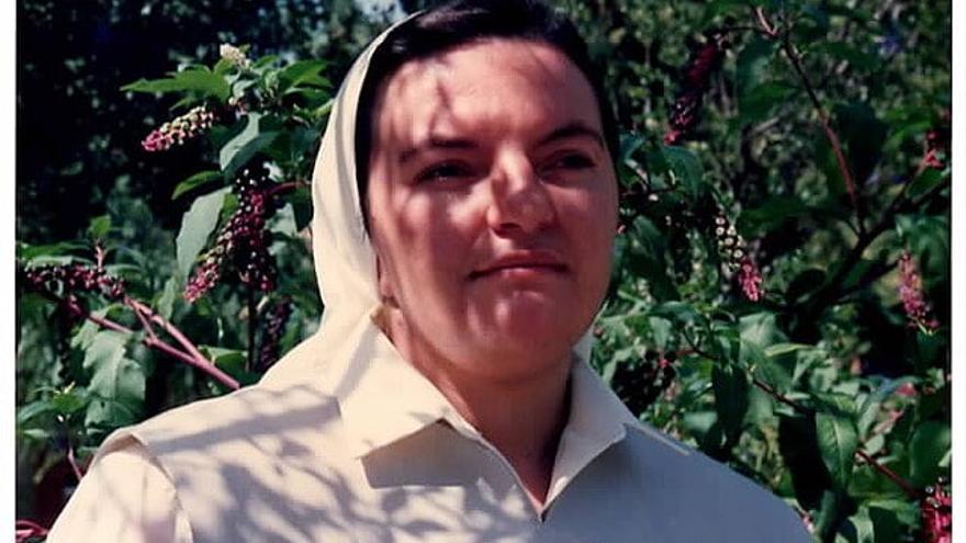 Araceli Mayans en una foto de cuando era monja