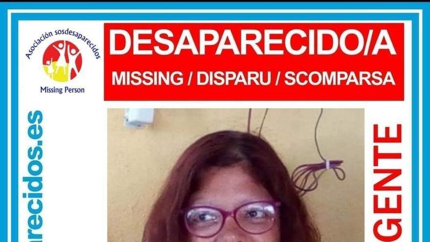 Cartel con la imagen de Rosa Nieves, desaparecida en Tenerife