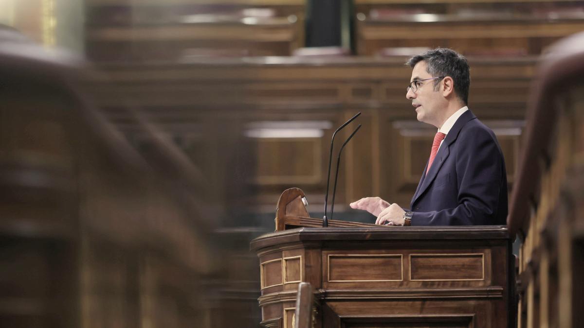 El ministro Félix Bolaños en el Congreso de los Diputados