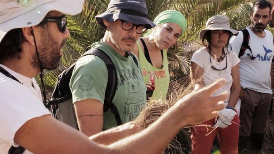 Voluntarios en el barranco de Guiniguada