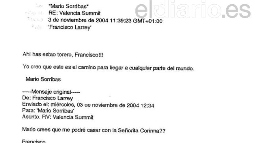 Correos electrónicos de los trabajadores del Instituto Nóos a propósito de la respuesta de Corinna