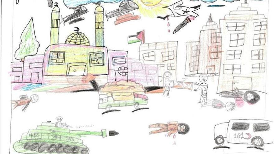 De la pesadilla al papel para combatir el trauma infantil en Gaza
