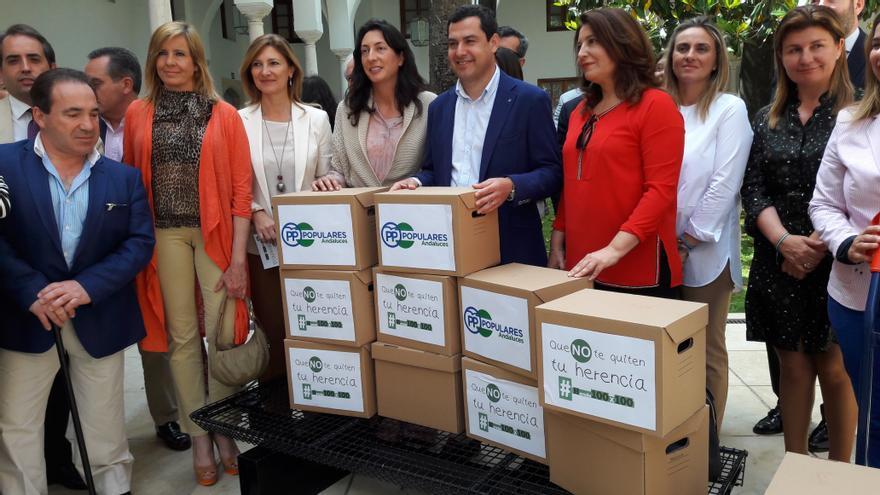 Firmas contra el impuesto de sucesiones y donaciones.