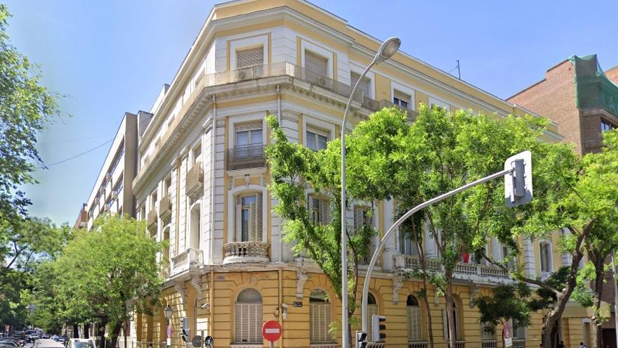 Edificio de la Dirección General de la Policía en Madrid, donde tuvo lugar la mesa del grupo de trabajo de negociación del Ministerio del Interior, en el ámbito de la Policía.