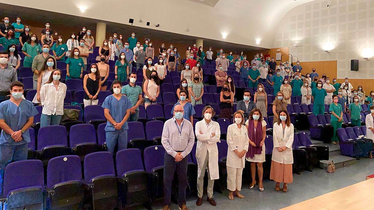 Nuevos residentes en el Hospital Reina Sofía.