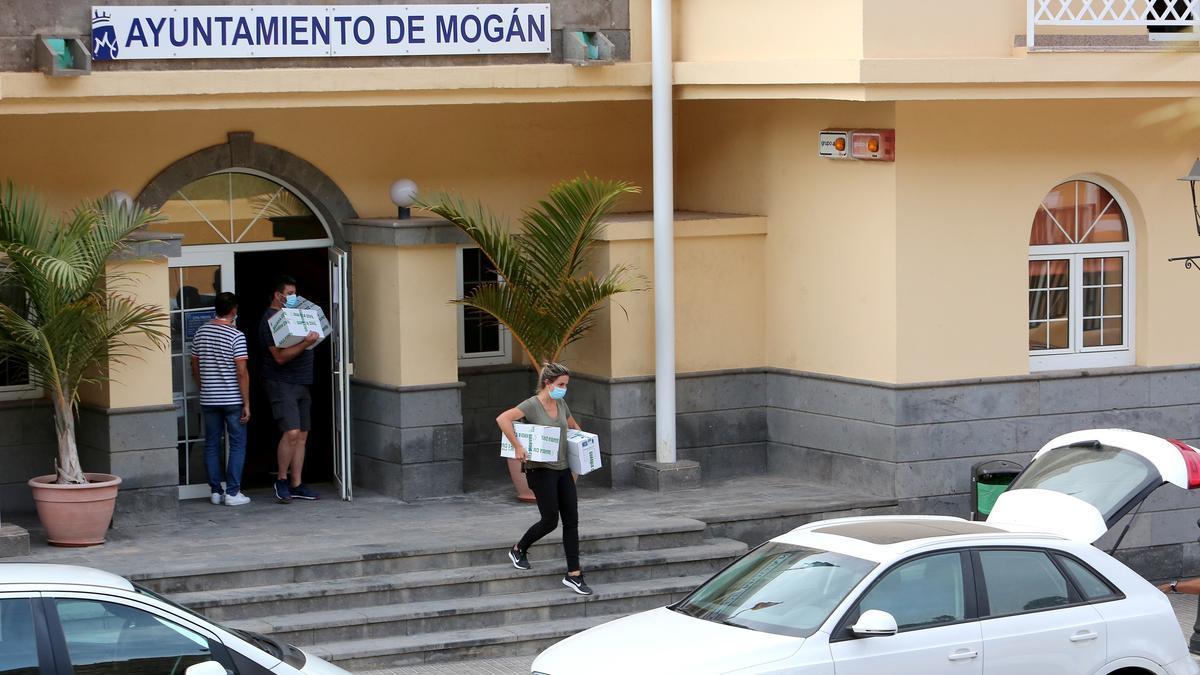Registro en el Ayuntamiento de Mogán, el 17 de septiembre de 2020. (ALEJANDRO RAMOS)