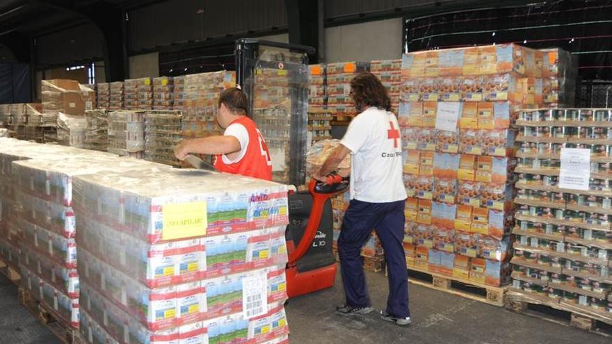 Cruz Roja distribuye 197 mil kilos de alimentos en la provincia tinerfeña.