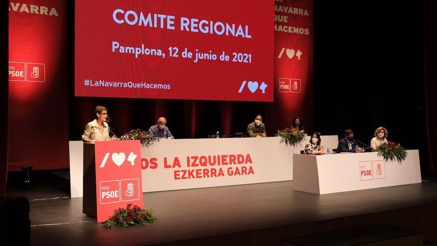 María Chivite en el Comité Regional del PSN