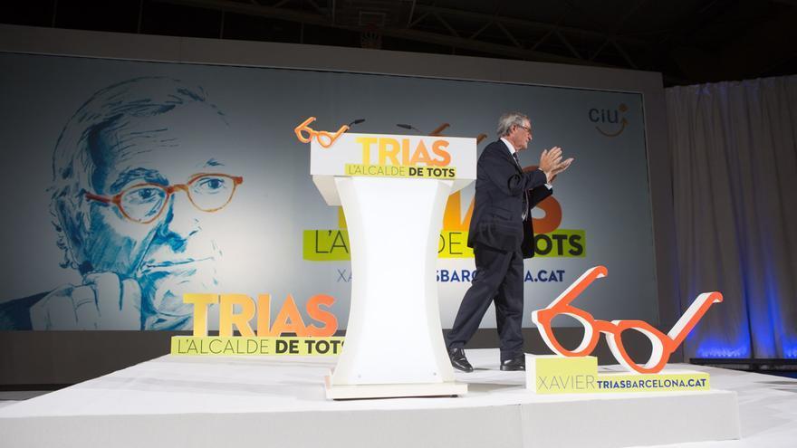Xavier Trias al moment que es presenta el cartell electoral / ENRIC CATALÀ