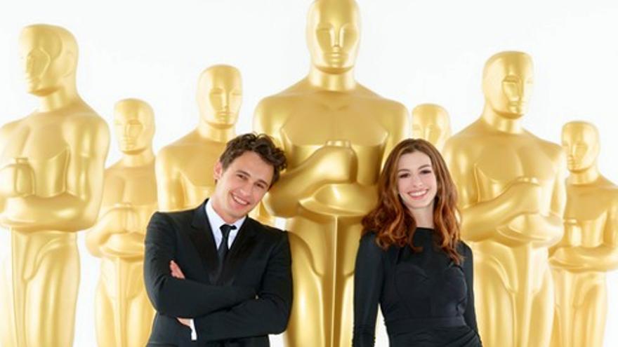 Anne Hathaway y James Franco defienden su vis cómica para los Oscar