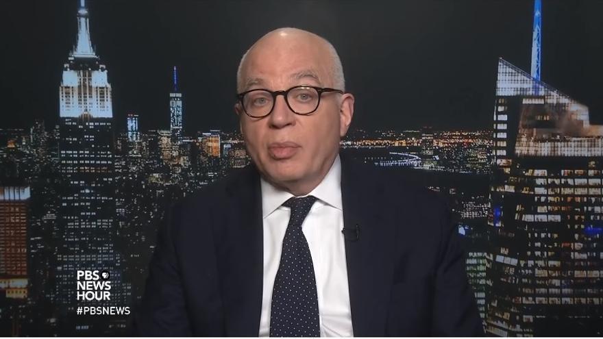 Michael Wolff durante una entrevista en el programa PBS Newshour el 8 de enero de 2018