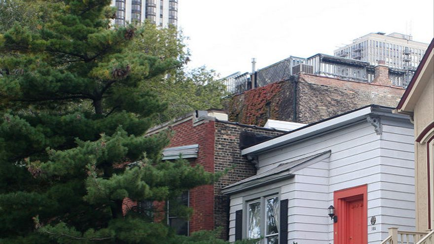 Casas del Old Town de Chicago. Whitney