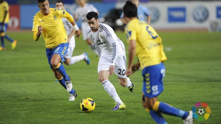 Imagen del partido de ida entre la Unión Deportiva Las Palmas y el Real Madrid Castilla. LFP.