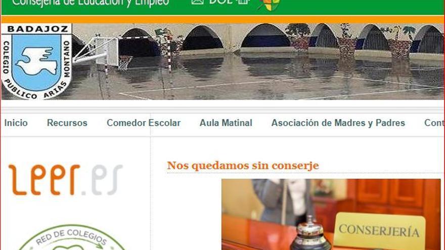 colegio Arias Montano Badajoz conserje