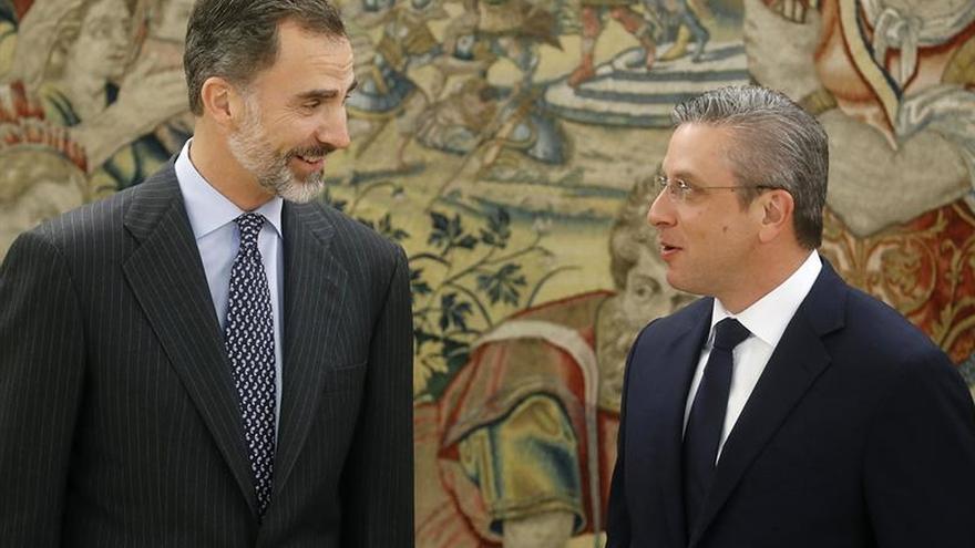El Rey recibe al gobernador de Puerto Rico, que fue su anfitrión hace ocho meses