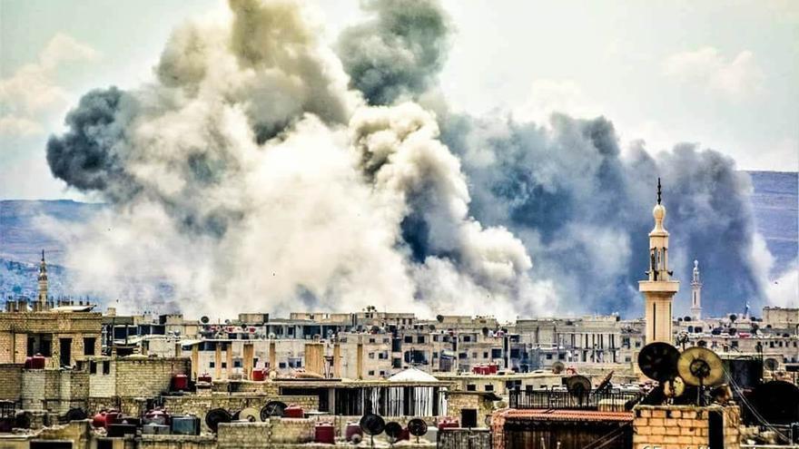 Fotografía de Yarmuk durante los últimos bombardeos del régimen de Bashar al Asad.