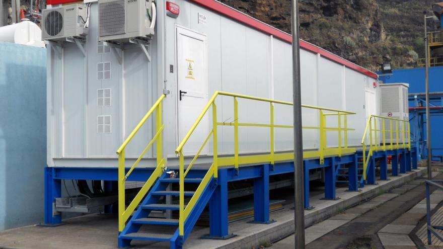 En imagen, planta del proyecto Store de almacenamiento con ultra condensadores situada en la central eléctrica de Los Guinchos.