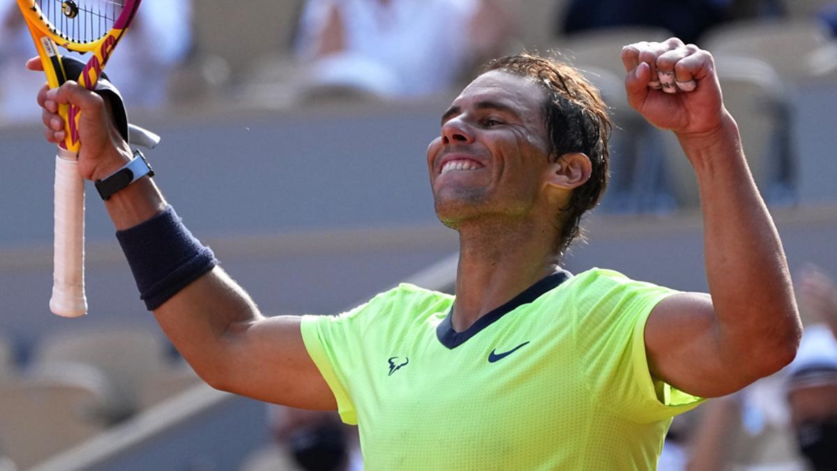 Rafa Nadal, tras clasificarse para las semifinales de Roland Garros 2021