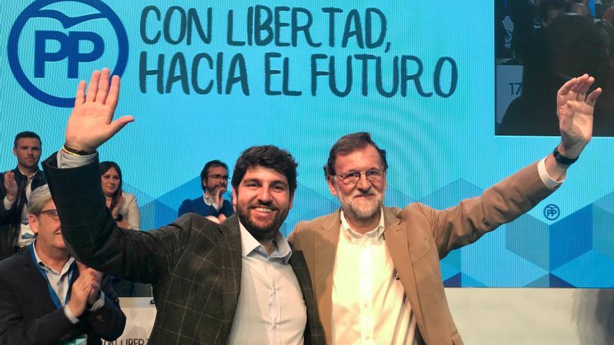 Mariano Rajoy apoya a López Miras en su reelección como presidente del PP en Murcia