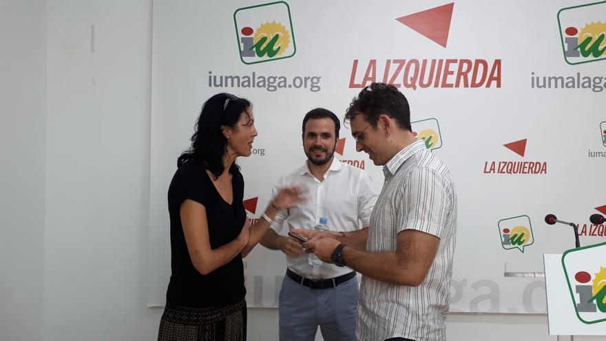 Eva García Sempere, Alberto Garzón y Toni Valero | N.C.