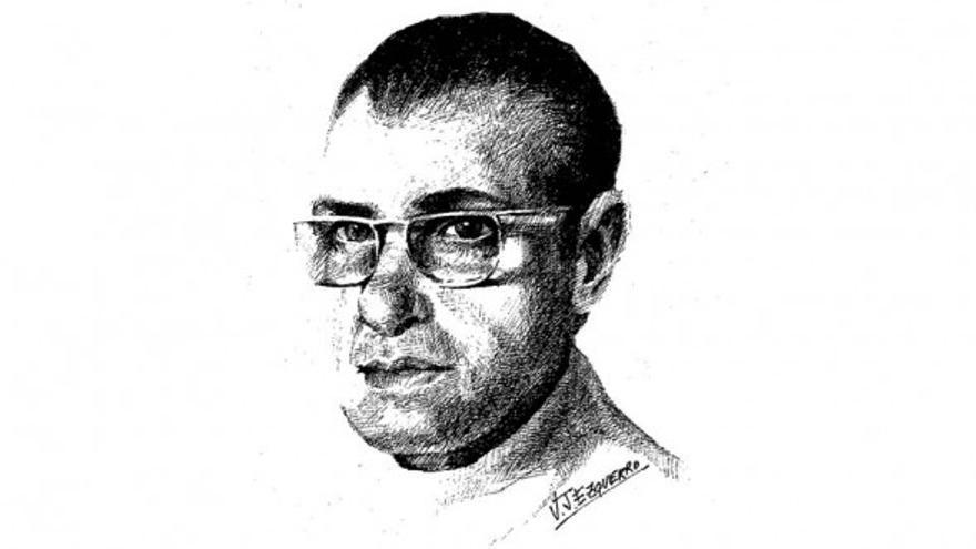 Félix Casanova dibujado por J.J.Ezquerro (original publicado en LOT)