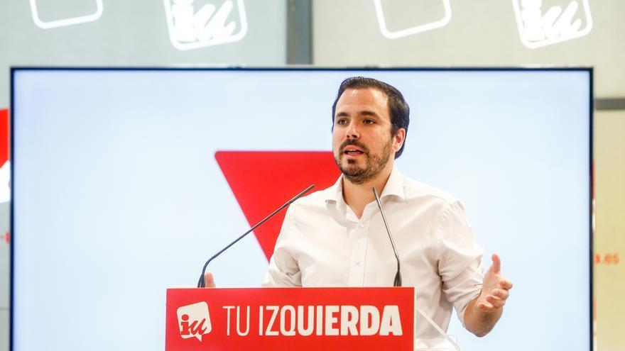 El coordinador federal de Izquierda Unida (IU), Alberto Garzón.