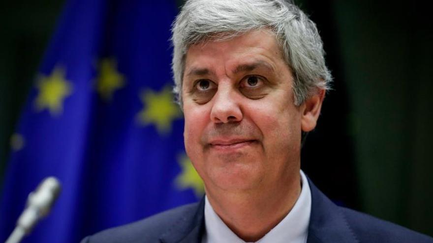 El presidente del Eurogrupo, el ministro de Finanzas portugués Mario Centeno, durante su comparecencia ante la Comisión de Economía del Parlamento Europeo en Bruselas, Belgica, hoy 18 de noviembre de 2019.
