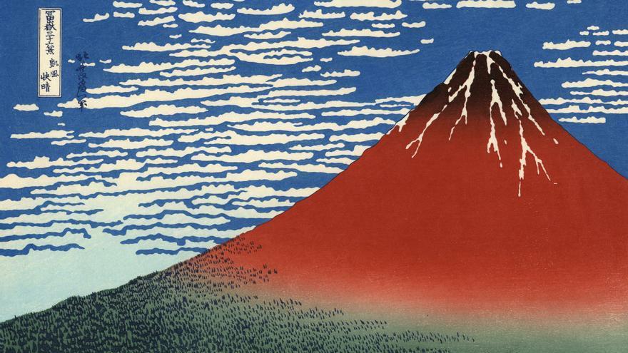 'Fuji rojo', grabado nº2 de 'Treinta y seis vistas sobre el monte Fuji'