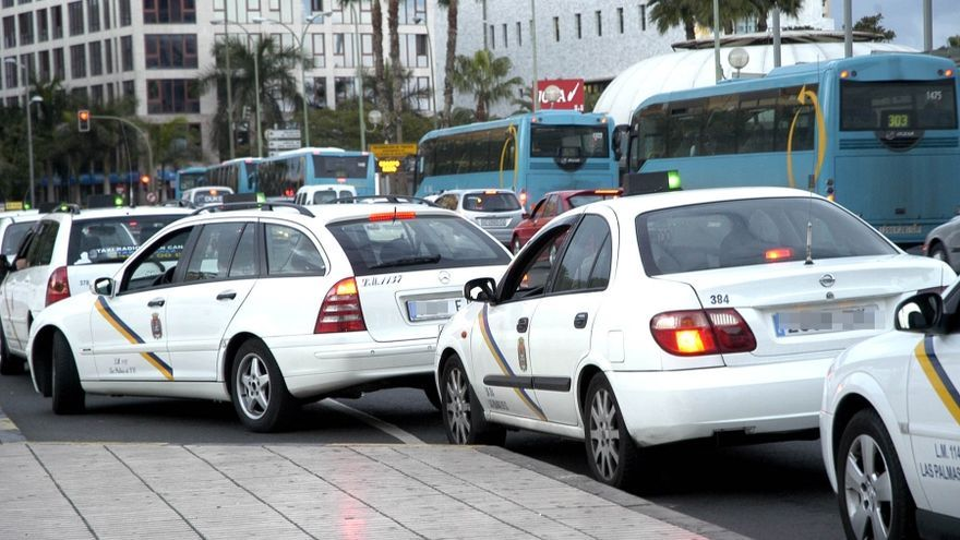 Para de taxis del Parque de San Telmo en Las Palmas de Gran Canaria.