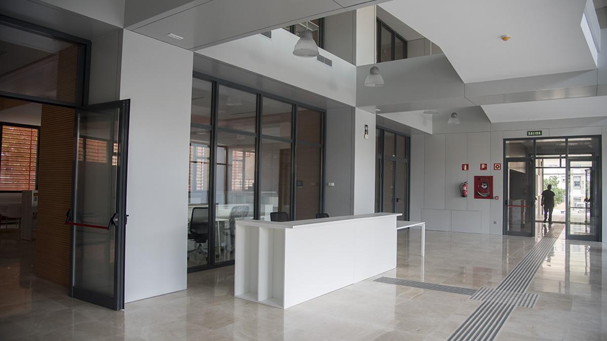 Interior del edificio de La Normal.