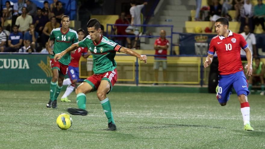 Imagen de archivo de un partido de la selección de Marruecos (de verde) en Torneo Internacional de Fútbol sub-20 del Cotif de 2015.   FOTO: Cotif l'Alcúdia.