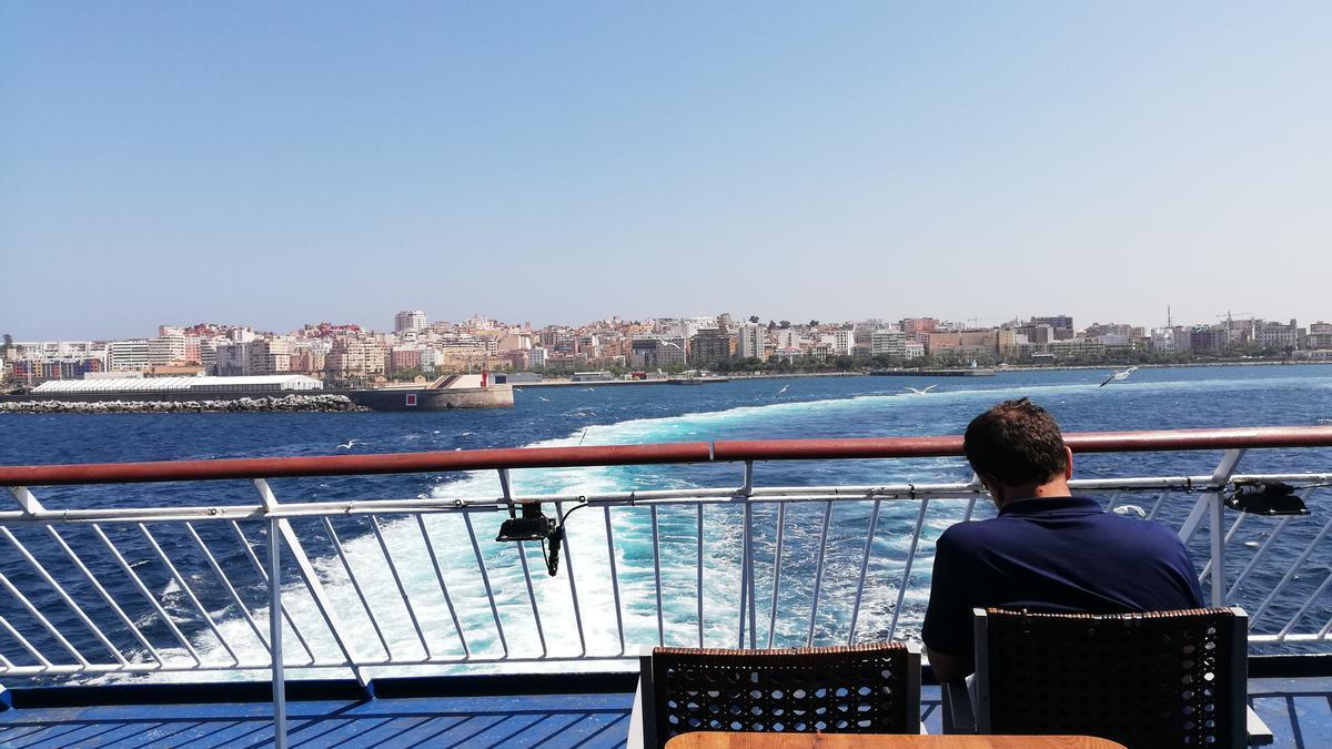 Ceuta vista desde el ferry, en una imagen de archivo.