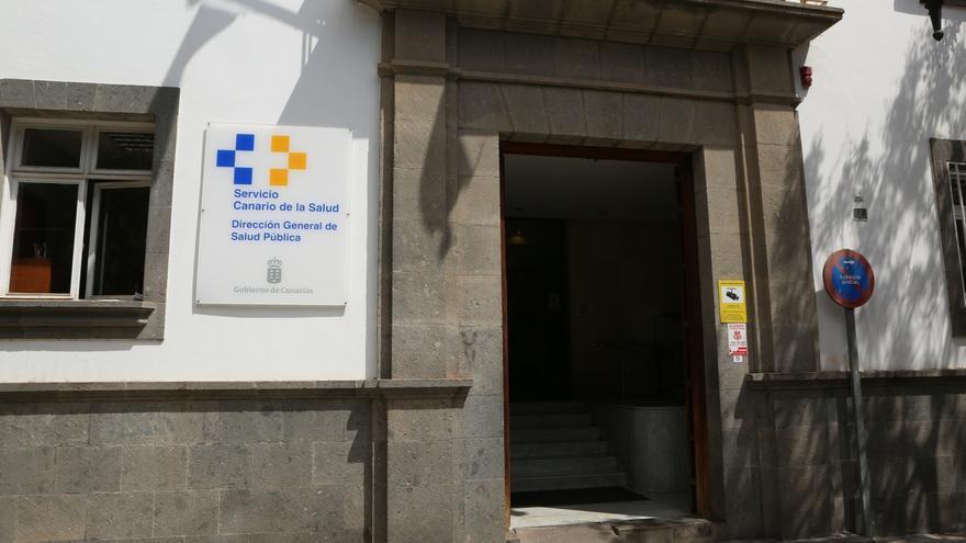 Fachada de la Dirección General de Salud Pública del gobierno de Canarias, en Las Palmas de Gran Canaria