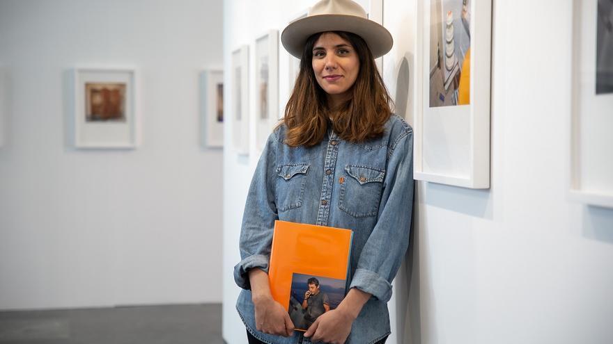 Laura Silleras en la exposición