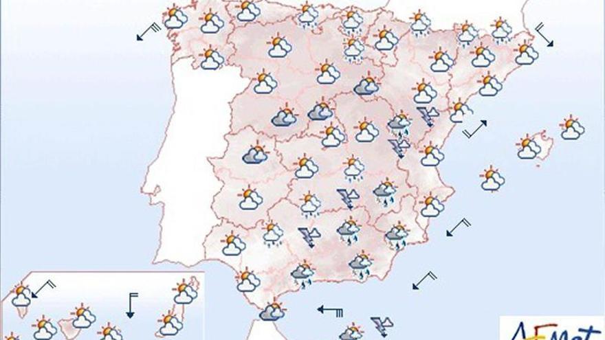 Mañana, cielos nubosos con chubascos fuertes en Melilla
