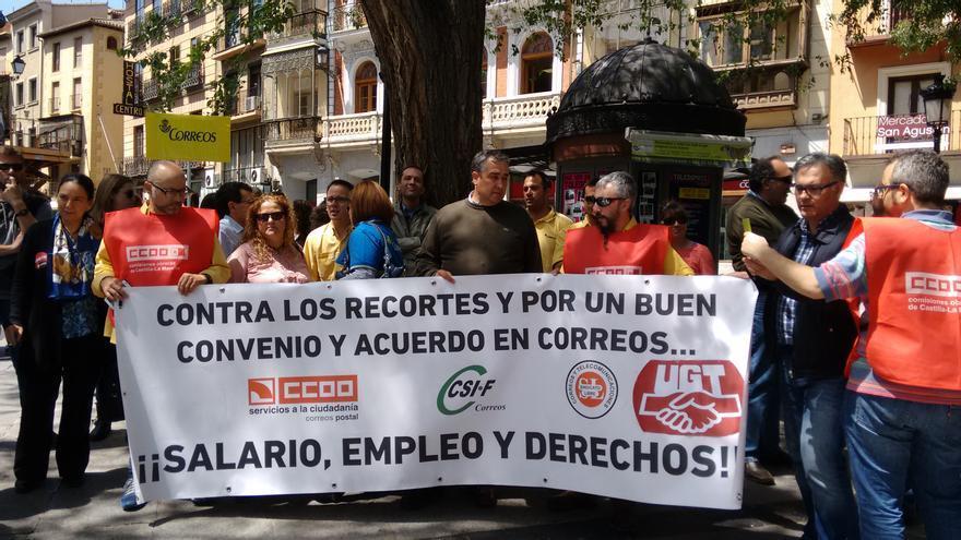 Concentración de Correos en Toledo, 30 de abril 2015
