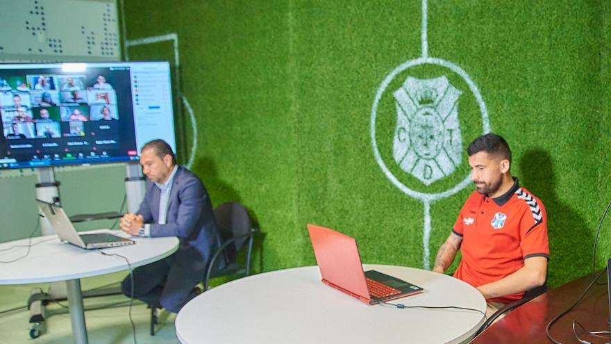 Cordero y Alberto durante la comparecencia telemática de este martes.