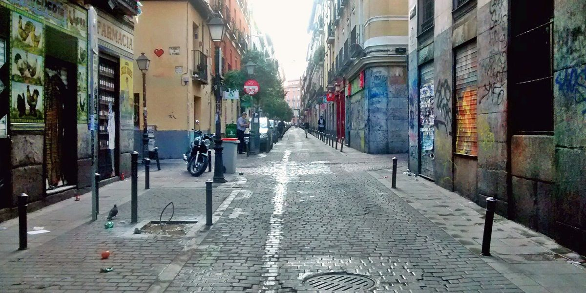 Aspecto de un tramo de la calle Palma sin coches aparcados | SOMOS MALASAÑA