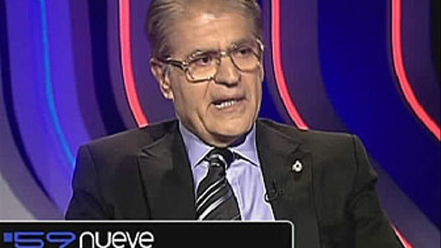 Manuel Fernández, secretario general del PP de Canarias, este martes en '59 segundos'. (LA 2 DE TVE)