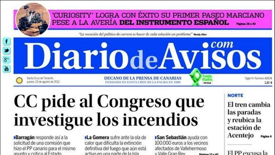 Las portadas del día (23/08/2012) #11