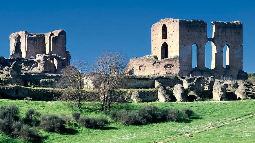 Restos de la Villa dei Quintili, antiguo palacio rural situado en plena Via Appia.