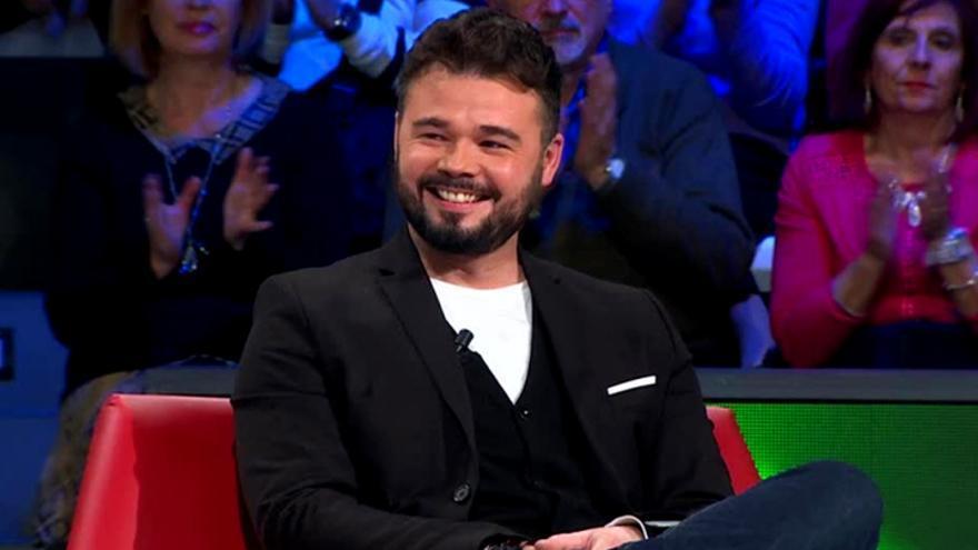 Gabriel Rufián en una intervención en laSexta Noche