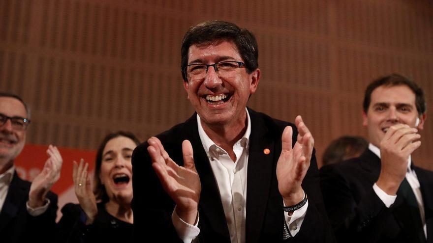 Juan Marín celebra los 21 escaños de Ciudadanos en el Parlamento de Andalucía